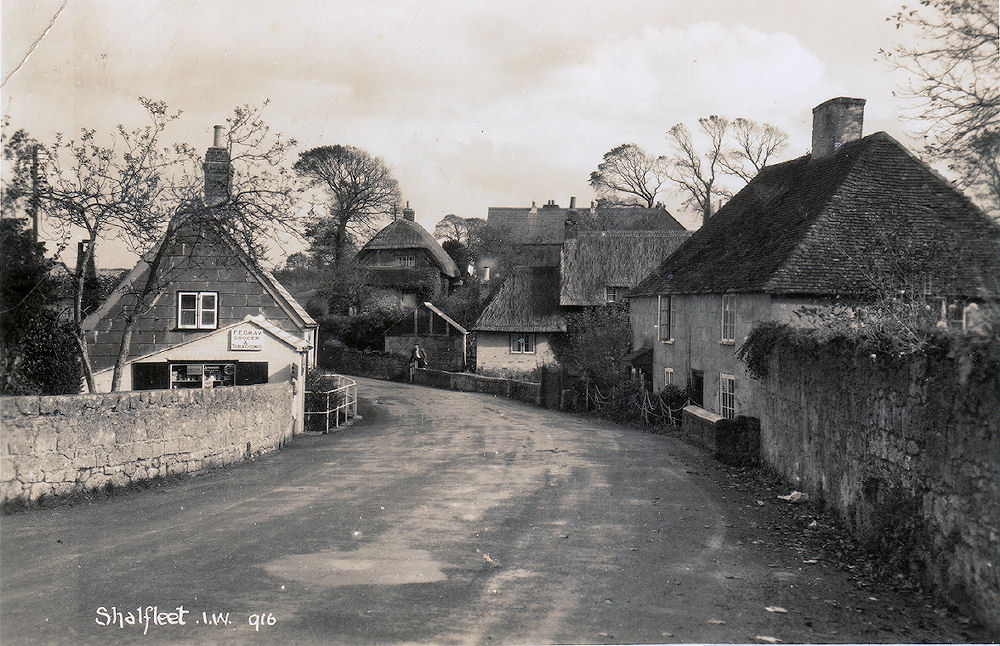 Shalfleet Village showing Grays Stores
